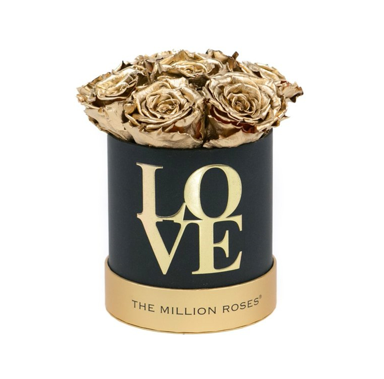 "Custom new design round printing ""love"" flower box,rounded rose box with lid"
