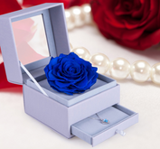Drawer gift box/flower box/box with display window/ PVC box for flower jewelry supplier in EECA