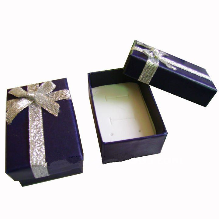2017 Multipurpose rectangle packaging box/jewelry gift box with shiny ribbon decorate in China
