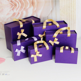 2017 Purple paper drawer gift box/sliding drawer box/storage handcraft box made in EECA packaging China