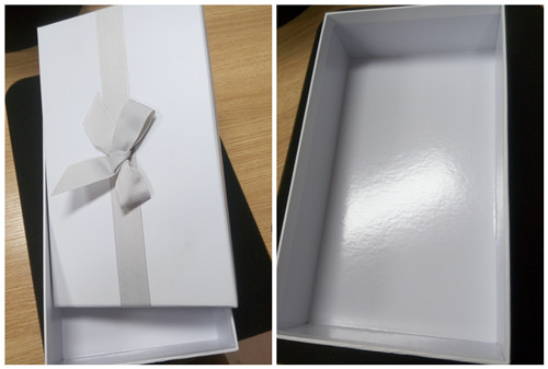 Bowknot Paper box packaging box for cosmetic beauty carton packaging box with ribbon handmade box