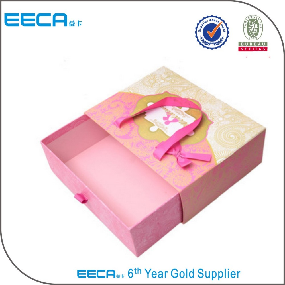 custom paper drawer box wedding favor candy cardboard box