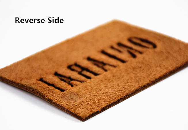 Custom embossed leather patches for jeans leather patch tag label in EECA