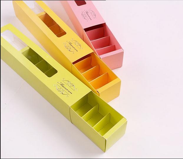 Maccaron drawer box/Maccaron packaging box/colorful Maccaron box in EECA