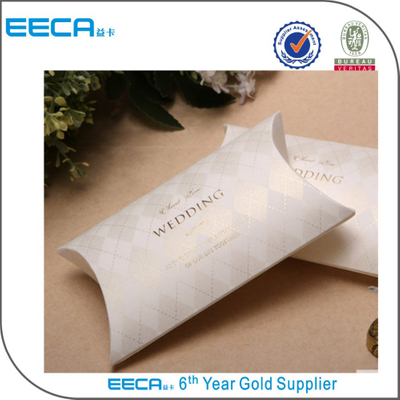 2018 custom logo printed paper pillow gift box/hair extension packaging box chocolate boxes/wedding boxes