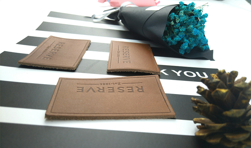 Fashion custom leather hang tag/leather label/leather tags for jeans design wholesale in EECA