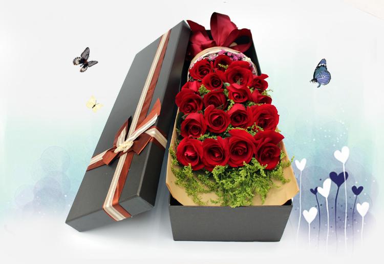 Waterproof Long Paper Box For Flower Rectanglular Flower Gift