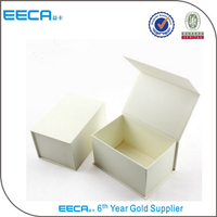 white handmade magnetic gift box /magnetic paper box/rectangular gift box Flip box made in china