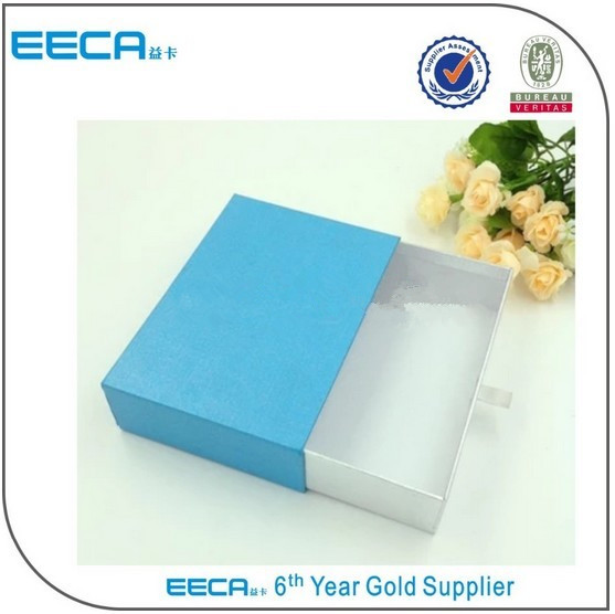 19 years professional manufacturer new products custom blue drawer gift box for packaging