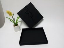 Square black gift box/soft special paper made box /handmade gift box/packaging boxes for suit in EECA China