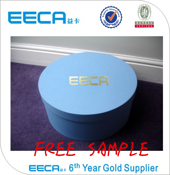 Cylinder box custom design big round hat packaging box/paper box for hat with handle China supplier