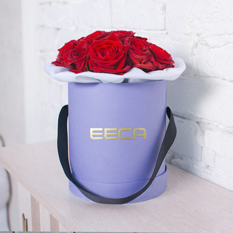 Cylinder Flower Custom Round cardboard Box Hat Box Storage Box Flower Printing Flower Box with Lid in EECA China