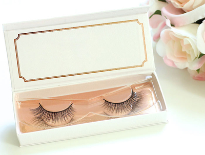 Fashion custom eyelash box / false eyelash box / magnetic lashes box in EECA Packaging