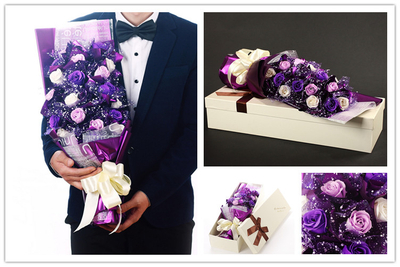 2017 Waterproof long paper box for rose flower/Valentine's Day present/rectanglular flower gift packaging hat box/made in EECA China