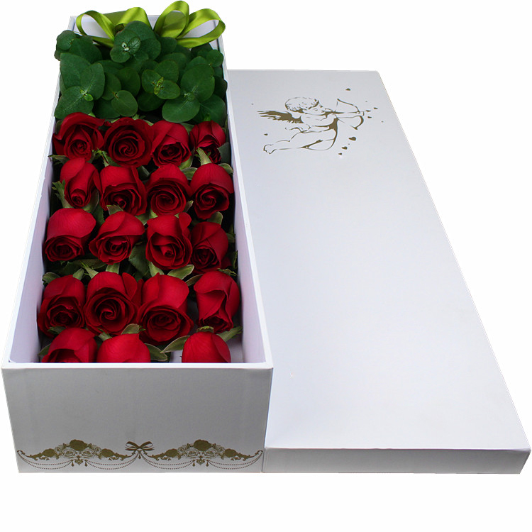 Long flower box Customized Romantnic Valentine's square flower paper packaging box/Rectangule flower box in EECA China