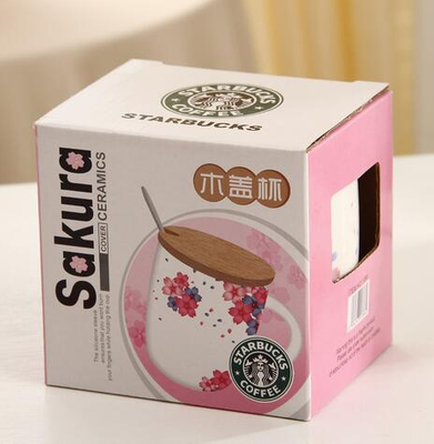 China promotional square packaging box/Paper cup box/Square box/Cup box for Starbucks in EECA China
