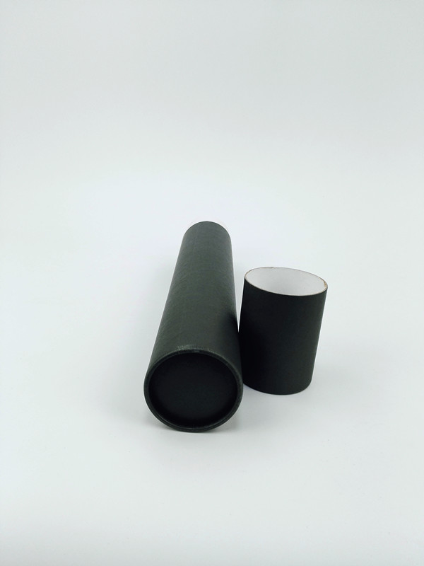 Black cardboard cylinder box/paper tube packaging box made in China