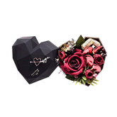Hot sales Custom Design Cardboard Flowers Heart Shape Chocolate Packaging Gift Box
